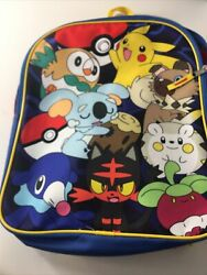 Pokemon Backpack Pikachu Character Collage $18.99