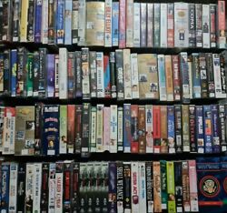 Variety Of Vhs Tapes To Choose From Classics Retro Collector Videos Movies