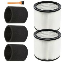 6 Pack Replacement Filter For Shop Vac 90304 Cartridge Filter, 90585 Foam Sleeve