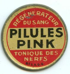 Stamp Mint Paris Pills Pink 5 Cents Lime Green