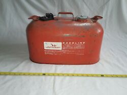Vintage Johnson 5 Gallon Outboard Boat Gas Can W/ Cap.