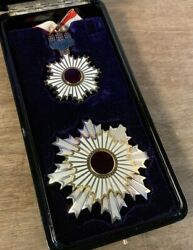 Military Antique Medal Honors Second Prize Emblem Japanese Army From Japan