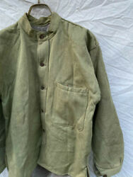 Rare Just Before The End Of The War Shirt Wood Button Military Antique Japan