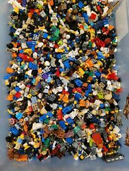 1000+ Lego Minifigures And 2+ Pounds Minifig Accessories Lego Bulk Lot