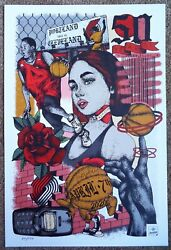 Portland Trailblazers Cancelled Gameday Poster 24/150 Cleveland Cavaliers 4-7-20