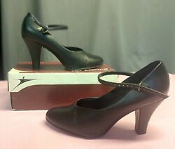 Black Character Shoes w Strap Size 10 3 Inch Heel