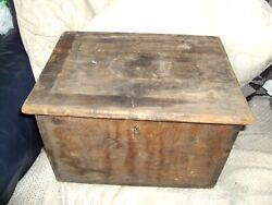 Antique Wooden Ships Tool Chest Hand Made 18x15