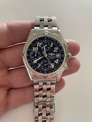 Breitling Chronomat Vitesse A13050.1 Black Dial Ss Automatic Menand039s Watch Ca2000