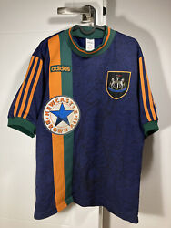 1997-1998 Newcastle United Jersey Shirt Away Adidas Brown Ale Size M