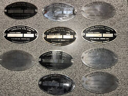 Vintage Lot Of 11 Sinclair Pipe Line Oil And Gas Company Tags Plate Plaque Id Sign