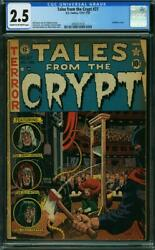 Tales From The Crypt 27 Cgc 2.5 Cow Pages Guillotine Cover 1952 B1