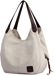 Tchh Dayup Hobo Purses For Women Canvas Tote Shoulder Bags Cotton Handbags $26.54