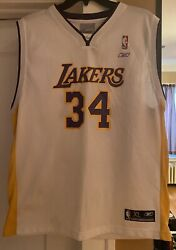 Shaquille Oandrsquoneal Nba Los Angeles Lakers Jersey Youth Xl Basketball White Mint