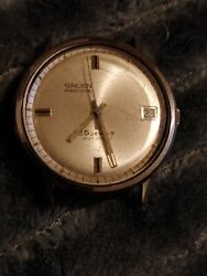 Vintage Gruen 712ca Menand039s Automatic Watch 25jewels Stainless Steel Swiss 1960s