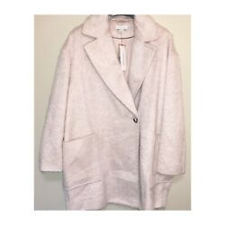 Topshop Carly Long Coat Pink Size Us 12 New With Tags