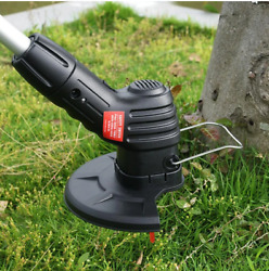 Uk Electric Cordless Garden Grass Trimmer Weed Strimmer Cutter Tool Rechargeable