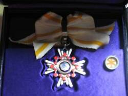 Military Antique Medal Order Of The Sacred Treasure 6 Grade Ribbon From Japan
