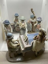 Full Set Of The Lladro Black Legacy Collection Jazz Band All Mint Condition