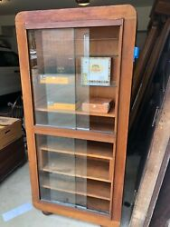 Vintage Lighted Cherry Display Case. Possible Cigar Humidor Sales Case.
