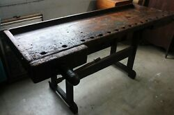Old World Antique Carpenterand039s Bench 1800and039s Germany