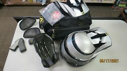 Klim F4 Adult Off-road Motorcycle Helmet Silver With Case And Extras Size Xl