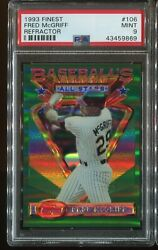 1993 Topps Finest As Refractors All-star 106 Fred Mcgriff Psa 9 Mint Sp No Line