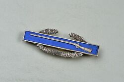 Wwii U.s. Combat Infantry Badge - Sterling W/ Sterling Clutches