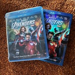 Marvels The Avengers Blu-ray + Dvd New And Sealed 2012 Both W/ Bonus Features