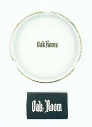 Rare Vintage The Oak Room At The Plaza Hotel New York Nyc Ashtray And Matches
