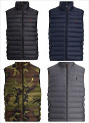 Polo Lightweight Packable Water Repellent Down Vest New