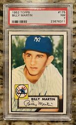 1952 Topps Billy Martin Psa 7 Rookie Card Great Looking Card