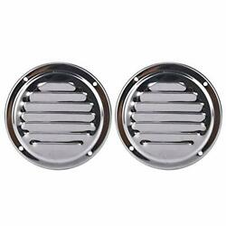 2 Pack Stainless Steel Round Louvered Vent 4 Inch Marine Boat Engine Vent Cover