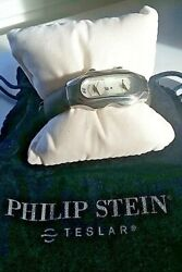 Philip Stein Teslar Mother Of Pearl Watch With Papers Dual Dial
