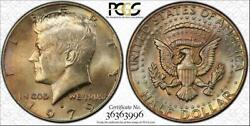1979-d Kennedy Half Dollar Bu Uncirculated Pcgs Ms64 Color Toned In High Grade