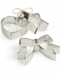 Martha Stewart Collection Set Cookie Cutter Stainless Steel Star Bow Heart Nwt N