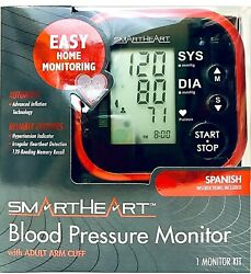 Smartheart 01-572 Automatic Easy Blood Pressure Monitor Kit With Adult Arm Cuff