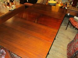 Vintage Mahogany Duncan Phyffe Style Drop-leaf Dinning Table