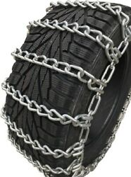 Snow Chains11l16 11 16 Alloy Two Link Tire Chains W/sno Chain Ramps