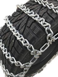 Snow Chains 33x14-15 Alloy Vbar Two Link Tire Chains W/sno Chain Ramps