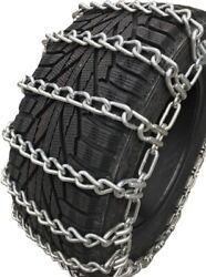 Snow Chains35x12.50-15 Alloy Two Link Tire Chains W/sno Chain Ramps