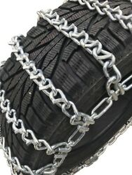 Snow Chains 12-15lt Alloy Vbar Two Link Tire Chains W/sno Chain Ramps