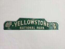 Vintage Yellowstone National Park Tin License Plate Topper