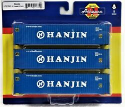 N Scale Athearn 17669 Hanjin 45' Container 3-pack