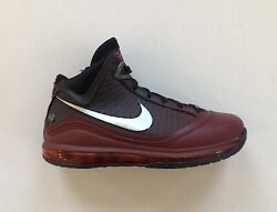 Nike Lebron Vii 7 Qs Christmas Team Red Black Lakers Shoes Cu5133-600 Size 9