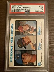 Mike Schmidt And Ron Cey 1973 Topps Rc Psa 5 Ex 615