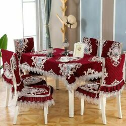 Chair Cover 2020 New Lace Embroidery Quality Chenille Dining Chair Cushion Cover