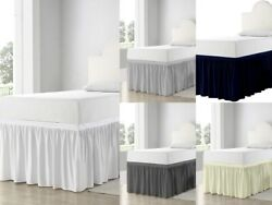 Bed Skirt For Dorm Room Ruffled Dorm Sized Bed Skirt Twin-xl All Color/drop Fit