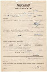 Guevara Ernesto Che 1928-1967 - Rare Document Signed As Minister Industries