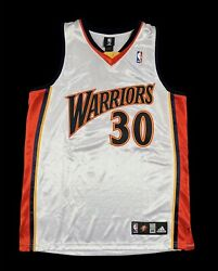 Stephen Curry Warriors Authentic Jersey Rookie Season Size 44 Nba Adidas
