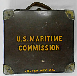 Antique Wwii U.s. Maritime Commission Cruver Mfg. Lifeboat Navigation Sextant